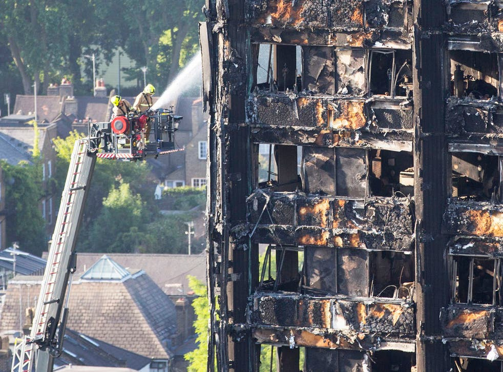 The rescue efforts at Grenfell Tower