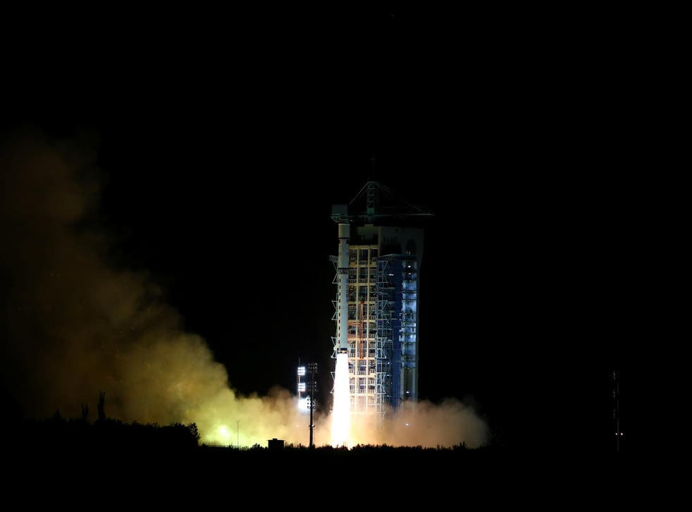 World's first quantum satellite is launched in Jiuquan, Gansu Province, China, August 16, 2016