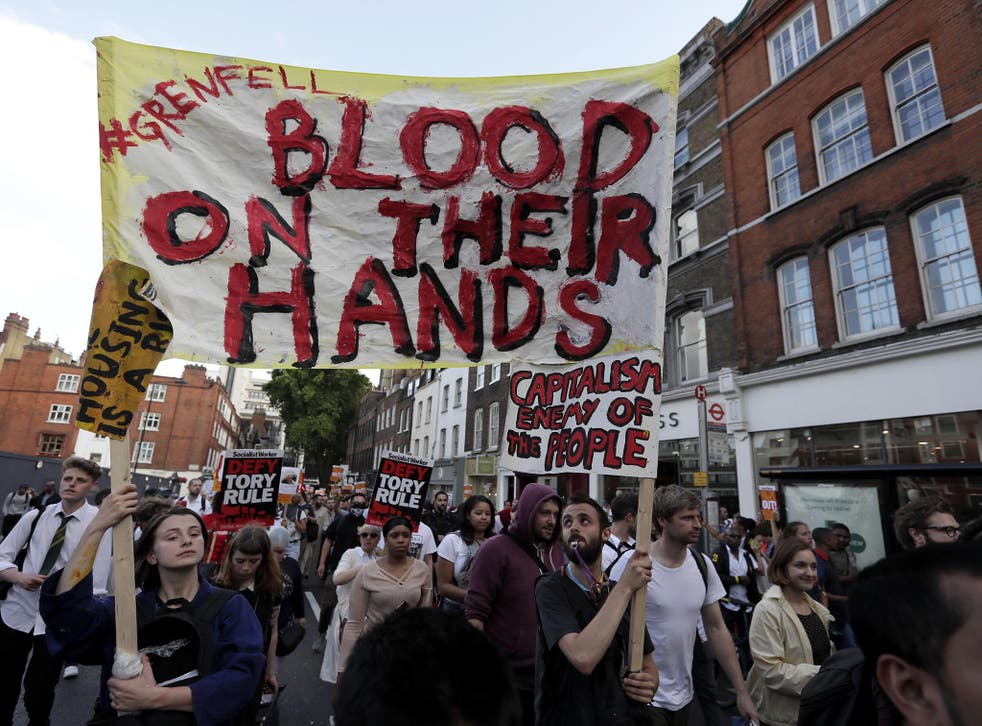 Protesters have taken to the streets of Kensington and Westminster over Theresa May's handling of the Grenfell Tower tragedy