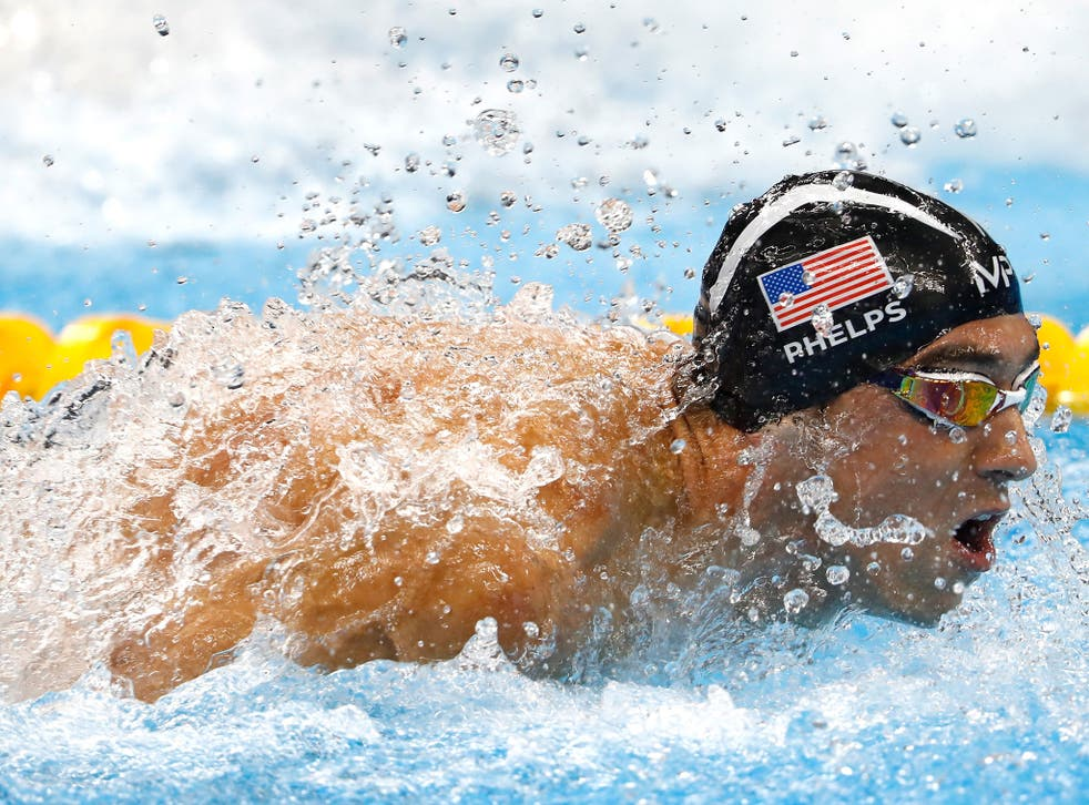 Michael Phelps in action at Rio 2016