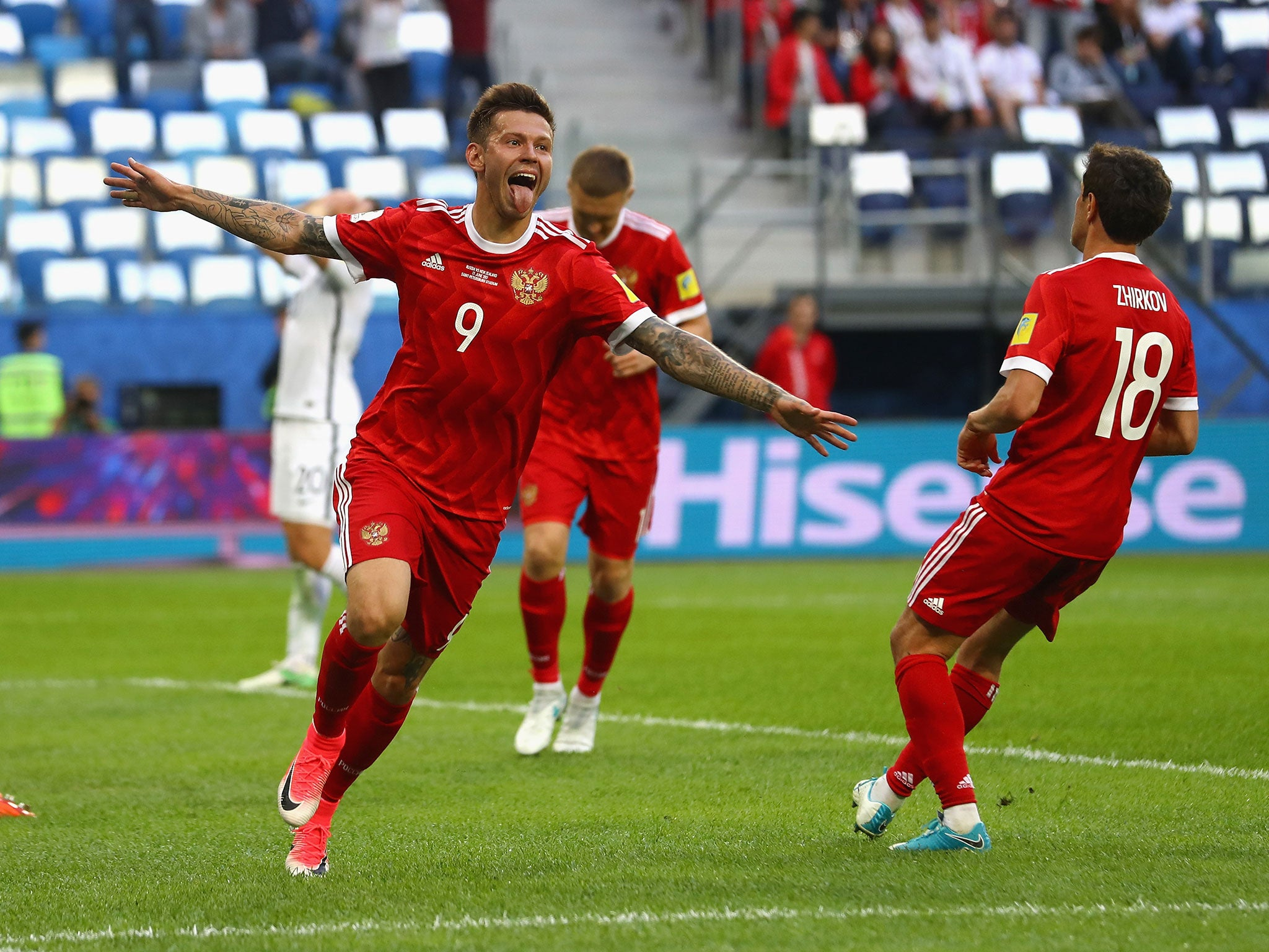 Hosts Russia beat New Zealand in comfortable Confederations Cup opener