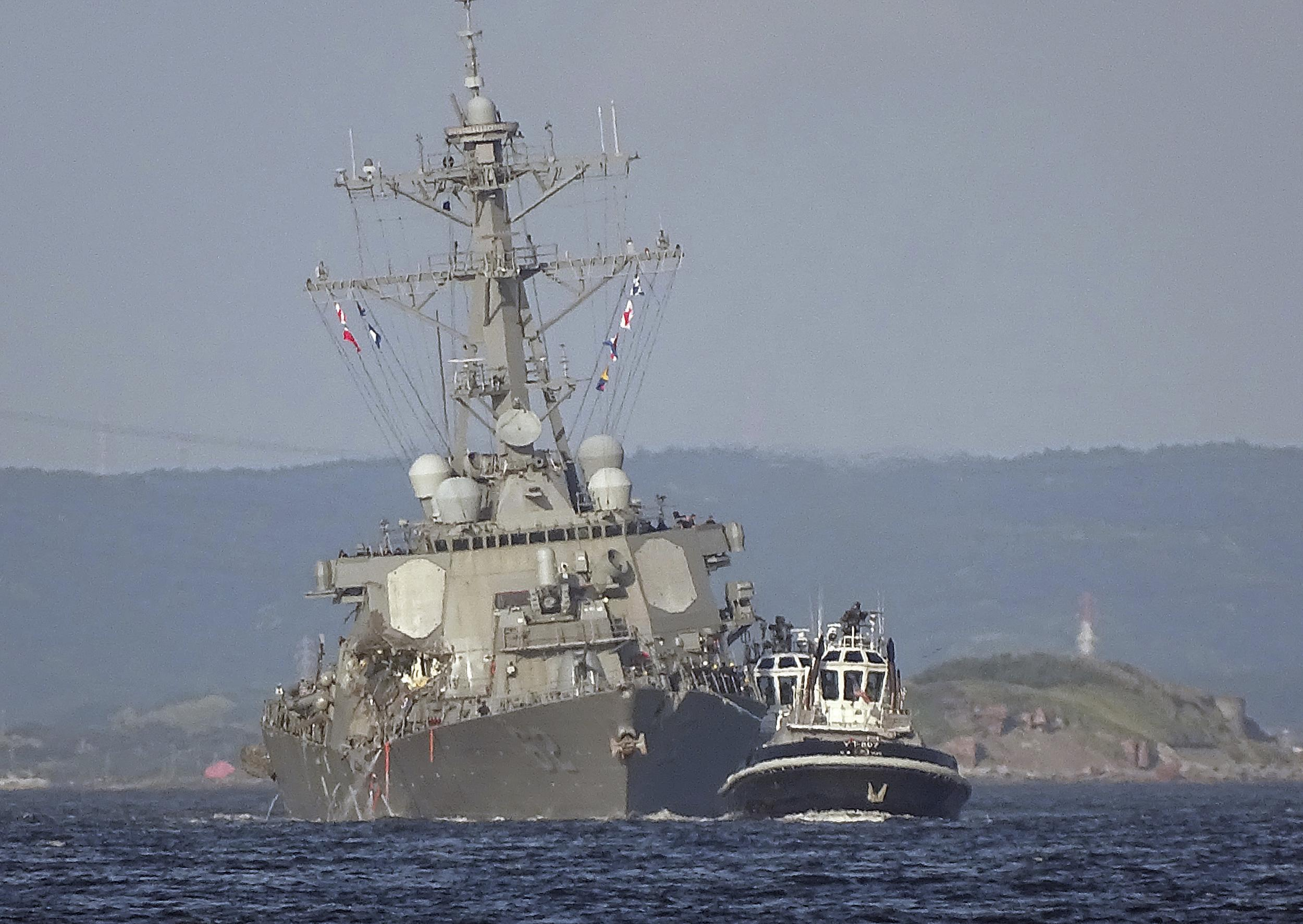 - uss fitzgerald navy japan sinking - US Navy stops search for seven missing sailors after bodies found aboard stricken USS Fitzgerald