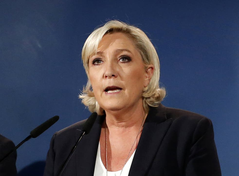 French far-right leader Marine Le Pen
