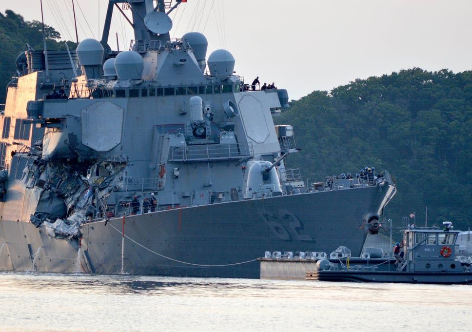 US Navy crash: 10 sailors missing after destroyer USS John