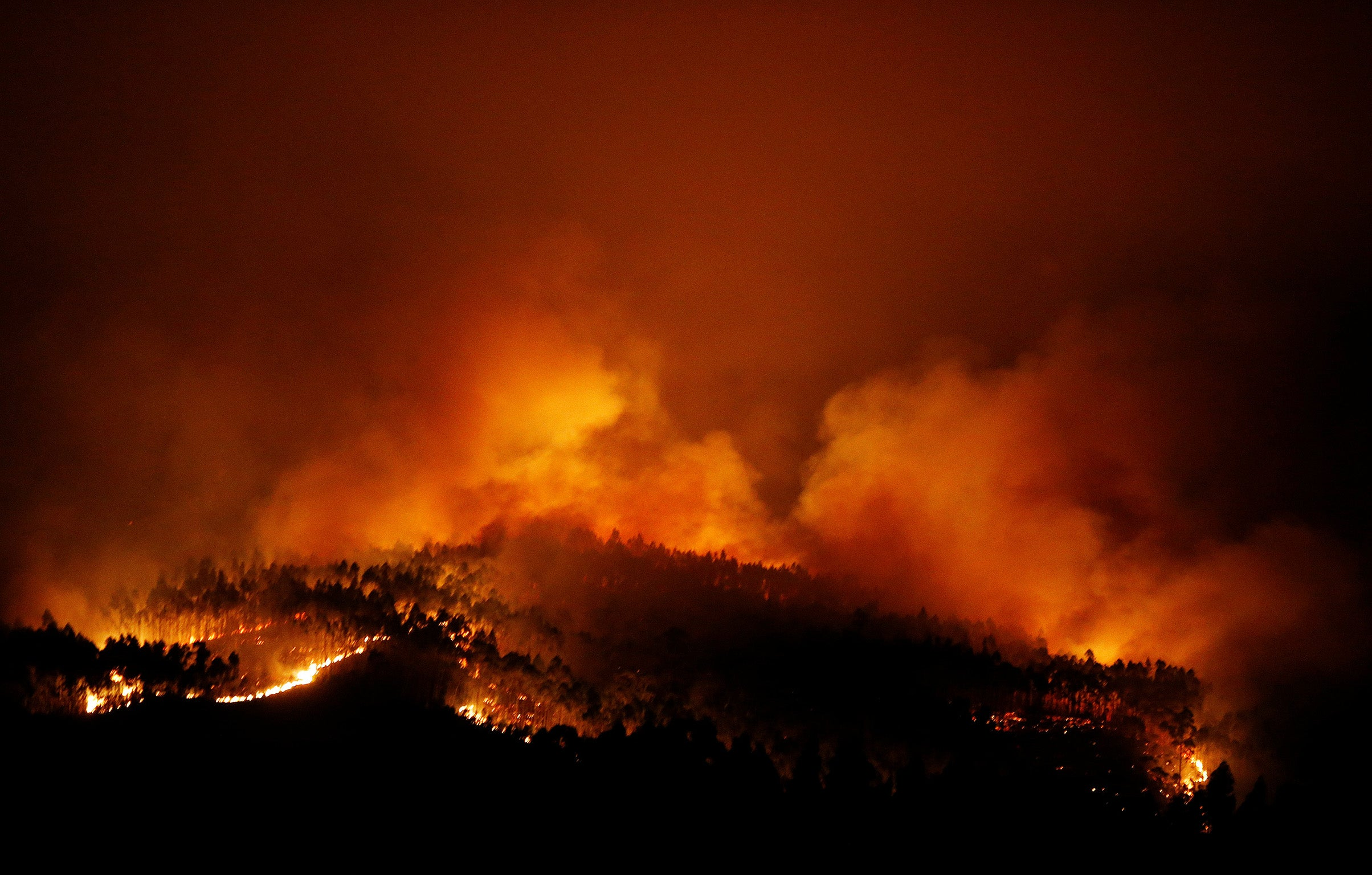 Portugal Asks EU For Help Putting Out Hundreds Of Forest Fires As - Portugal map of fires