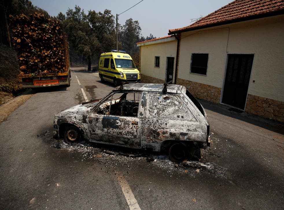 Tragic scenes from the forest fire in the Pedrogao Grande area of Portugal