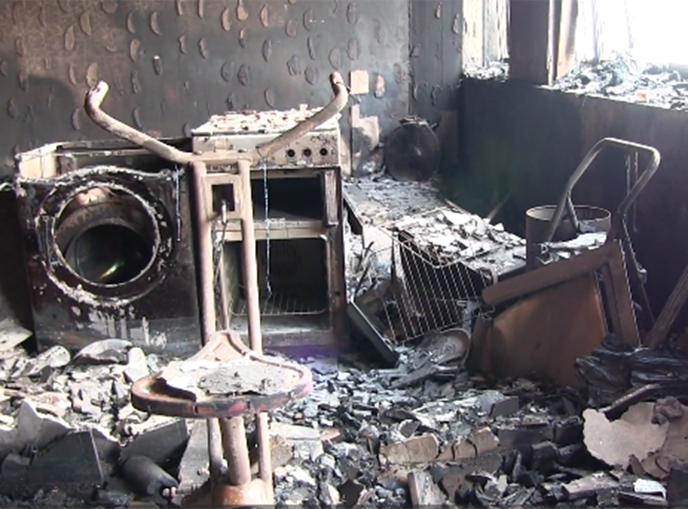 An image from inside the devastated Grenfell Tower