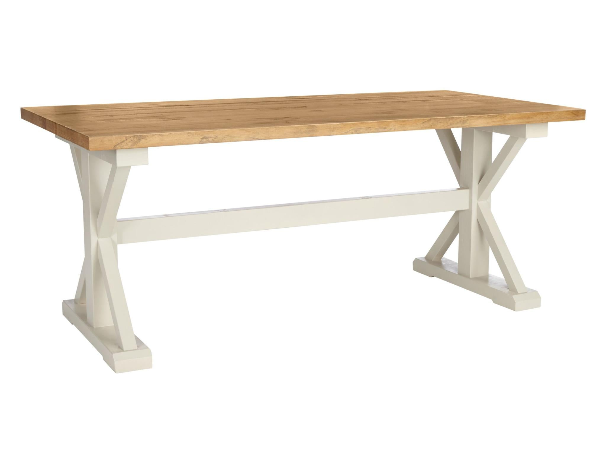 With A Country Kitchen Style, The Durham Dining Table Has Chunky Legs And  Top Made From New Zealand Pine. Its Rugged Features Are Designed For  Sturdiness ...