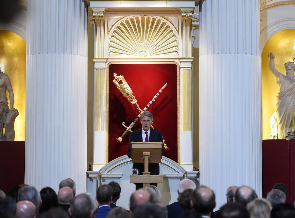 Philip Hammond today delivered his Mansion House speech