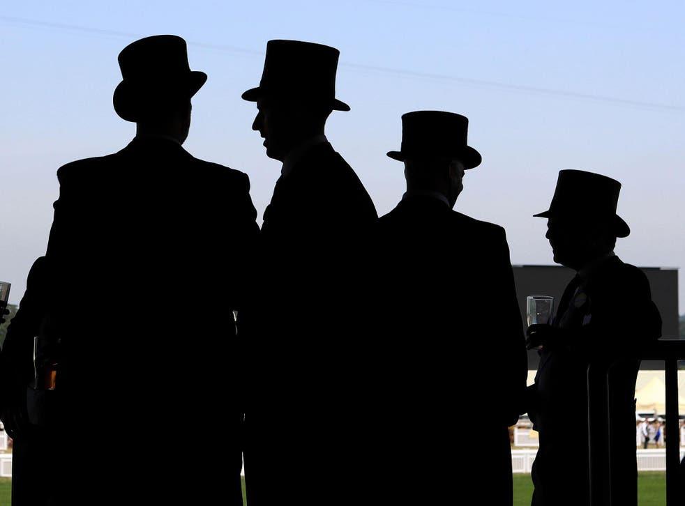 Wealthy spectators at Royal Ascot