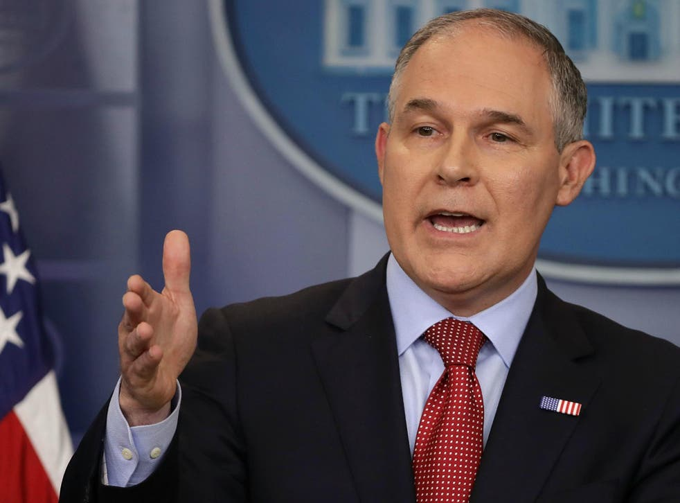 Head of EPA Scott Pruitt has denied carbon dioxide is a key driver of climate change and is a staunch supporter of Trump's plan to reinvigorate the US coal industry