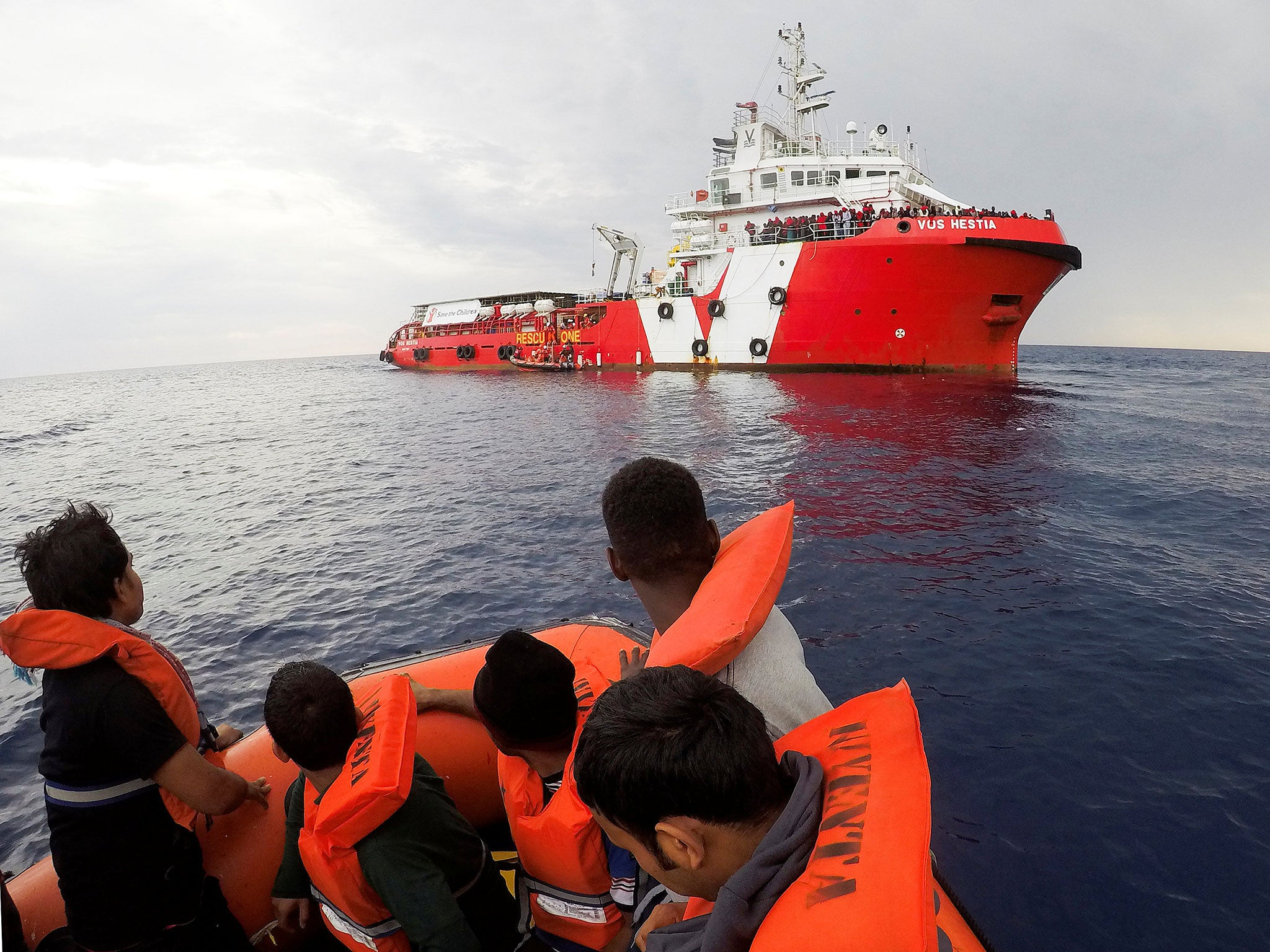 EU condemns rescue boats picking up drowning refugees in
