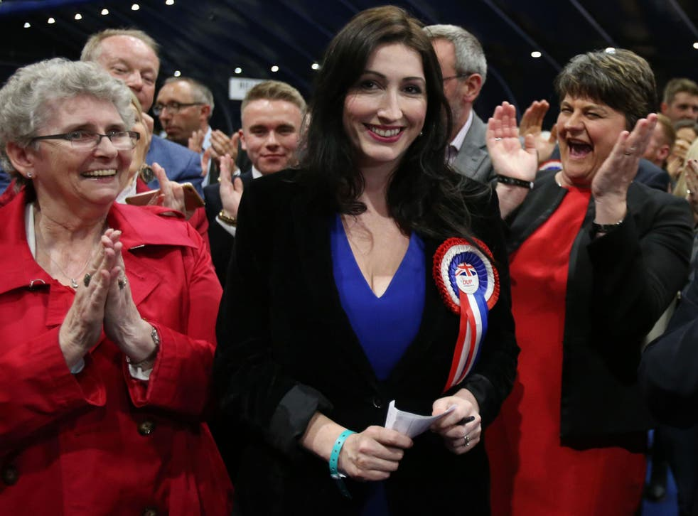 The MP for South Belfast said she had visited around 100 homes and had received a mixed reaction to the paramilitary flags