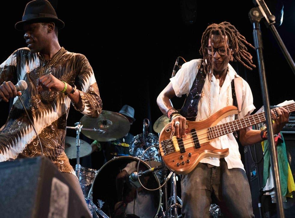 Mokoomba on stage in London