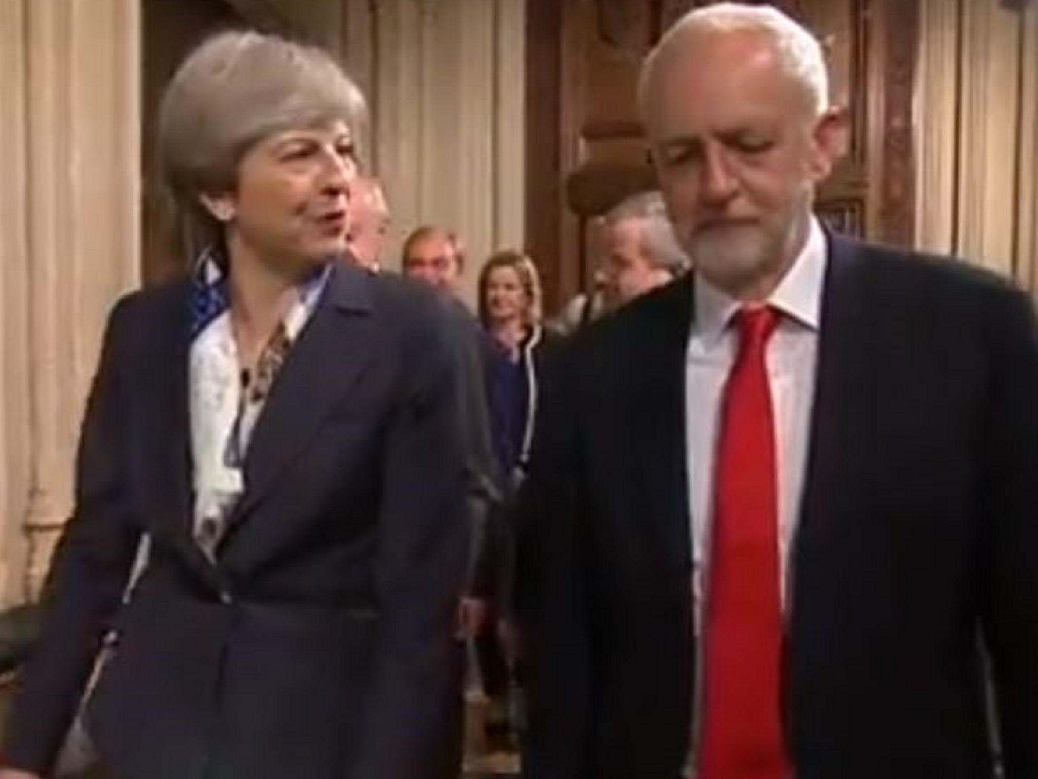 What did theresa may say to jeremy corbyn during the queen s speech a lipreader deciphers the exchange the independent