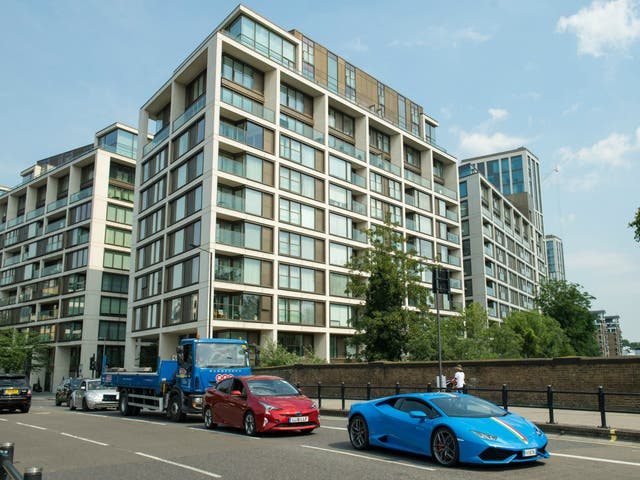 The flats in the Kensington Row development, in Kensington, west London, where some residents affected by the Grenfell Tower disaster are to be re-housed