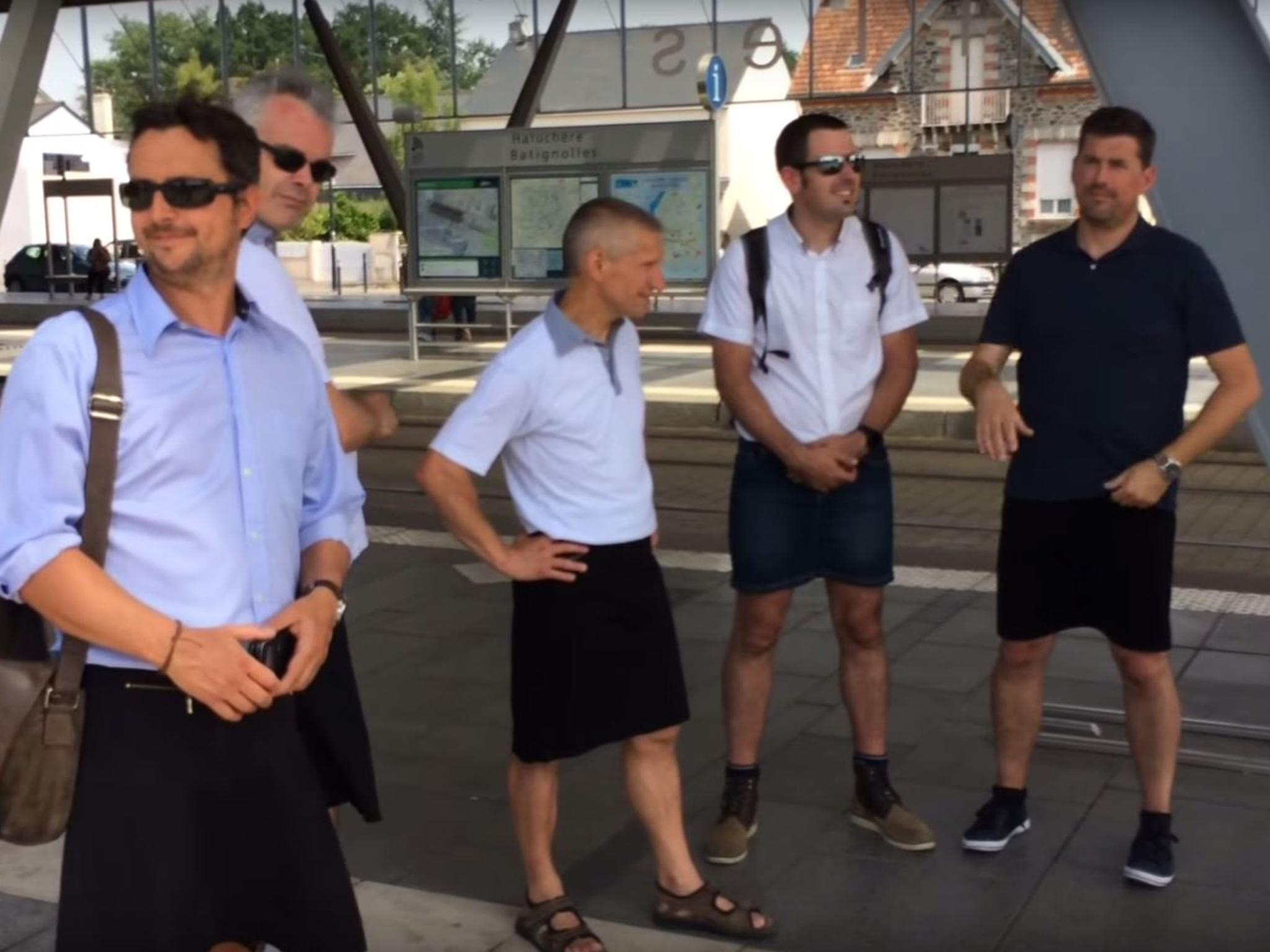 Weather latest: French bus drivers wear skirts to get around ban on shorts during heatwave