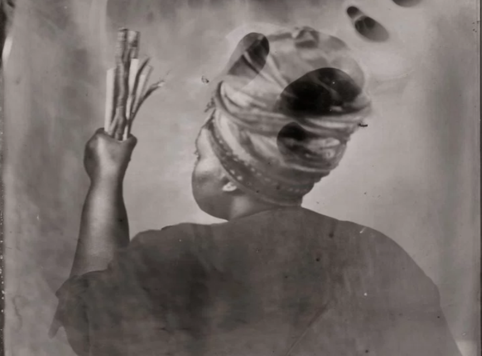 'Sothiou' - a silk-screen print by Khadija Saye, is on display at Tate Britain in memory of the Grenfell Tower victims