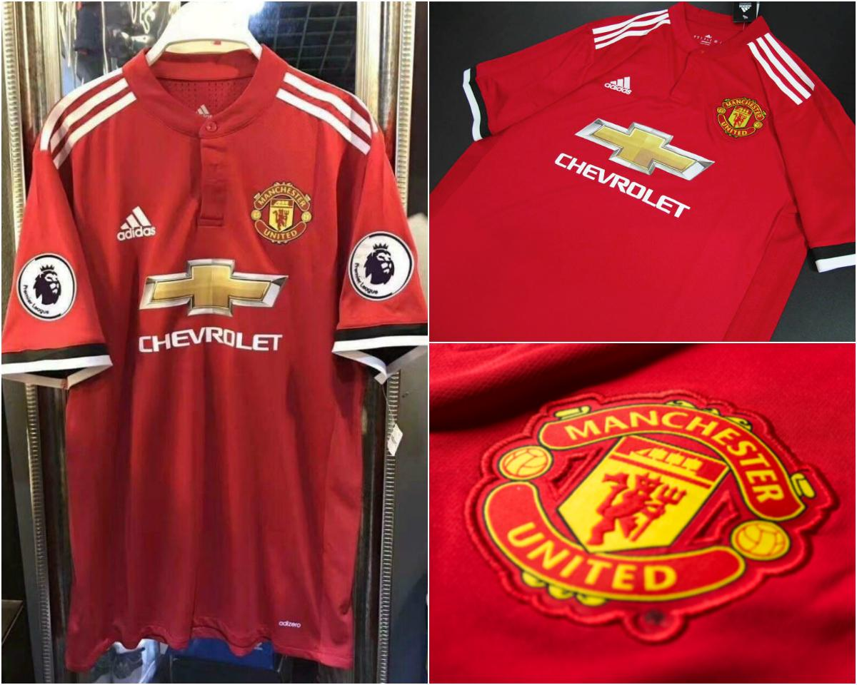 f0031e3ba Manchester United s 2017 18 home kit leaked  Do pictures show new Adidas  strip on sale in the United States