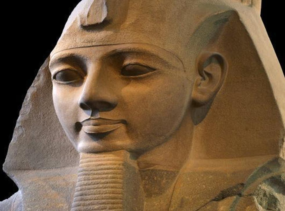 A granite statue of Ramesses the Great at the British Museum