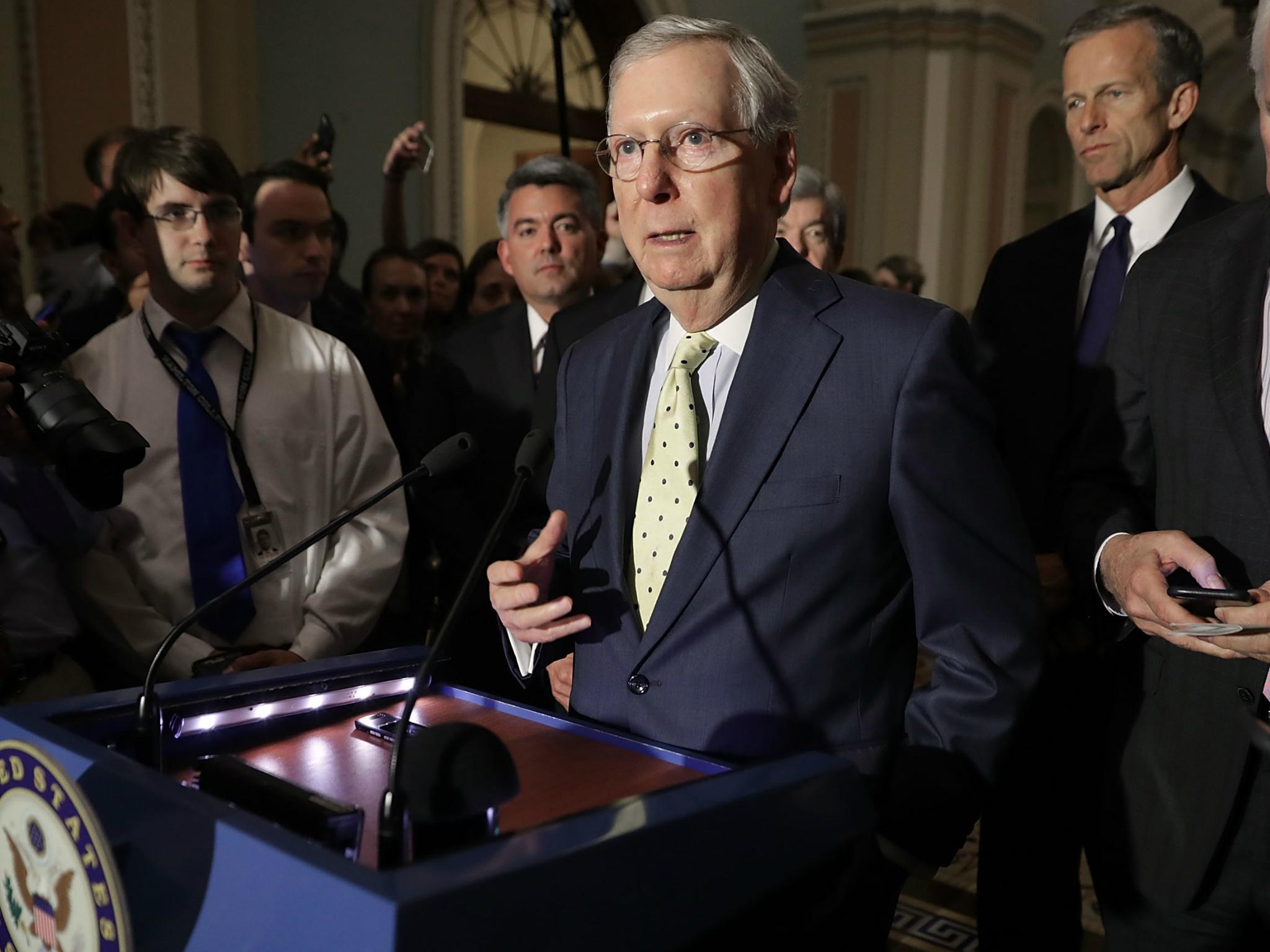 Trump healthcare plan faces possible defeat as enough Republican senators 'plan to oppose bill'