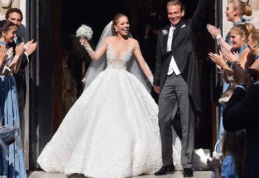 Swarovski Heiress S Wedding Dress Sends Internet Into