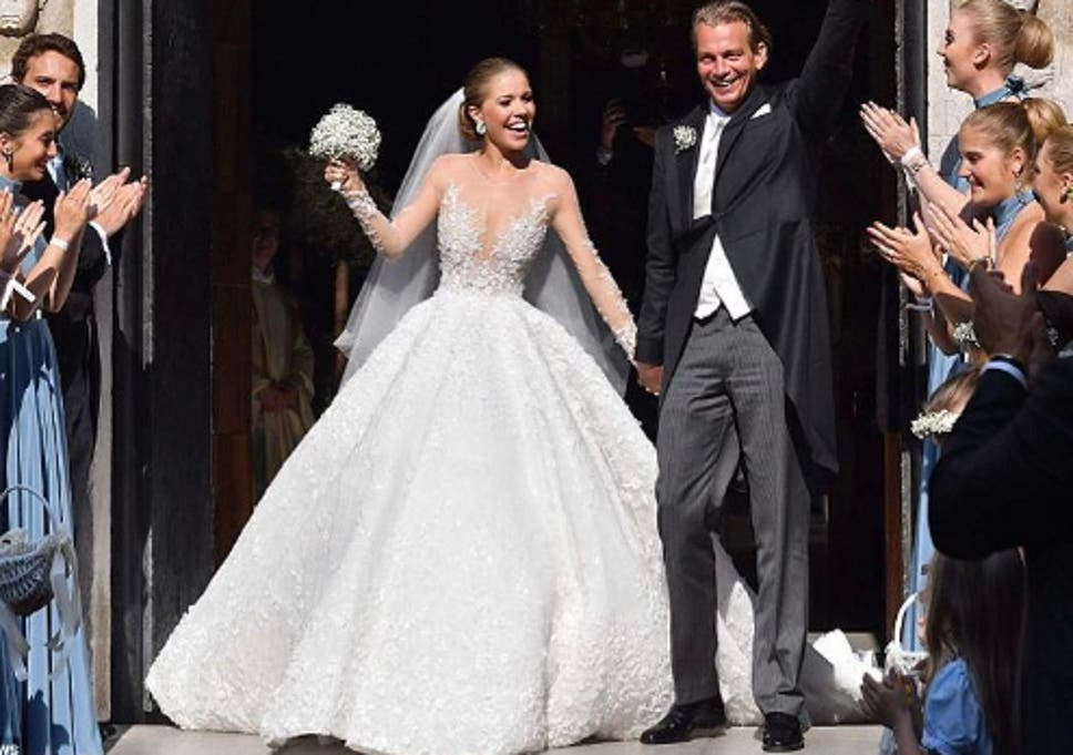 Swarovski heiress\'s wedding dress sends internet into meltdown | The ...
