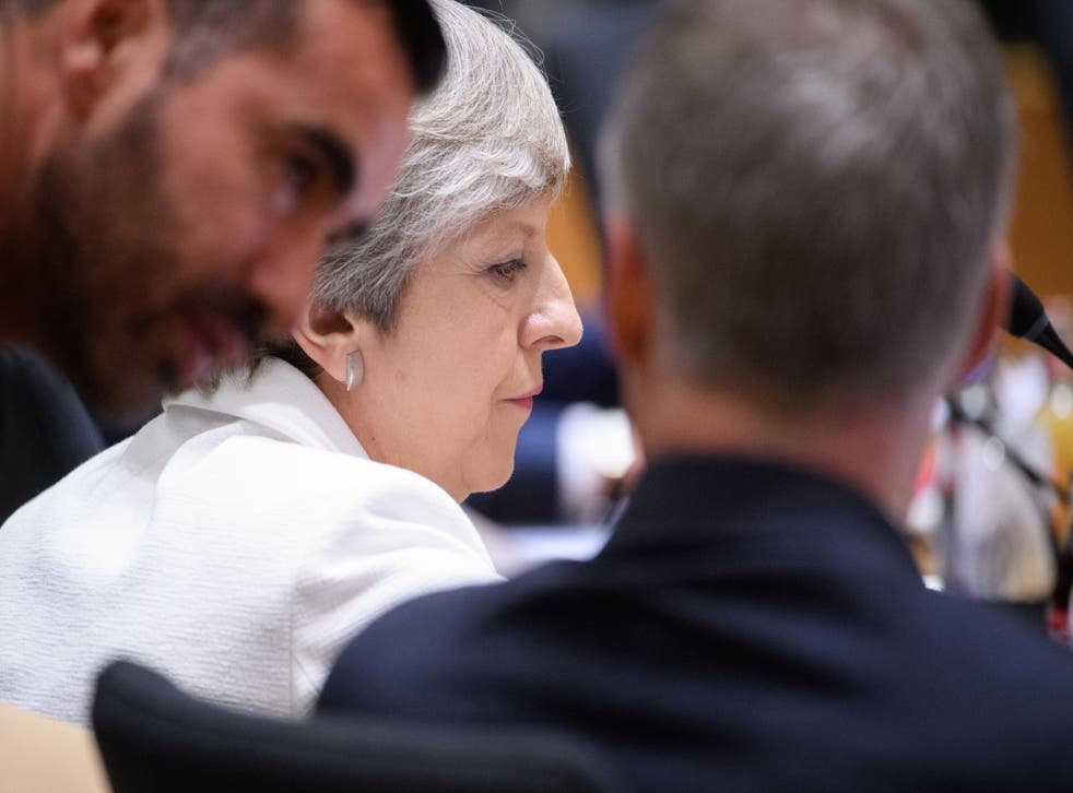 Theresa May made her offer on rights at a Brussels Summit on Thursday