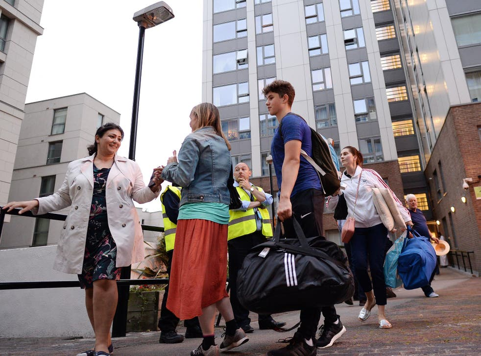 People who were ordered to leave their homes expressed fury at the 'chaotic' response by the council, claiming it has left them with 'no option' but to return to their flats and spend another night in the towers despite the safety warnings