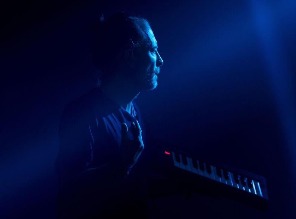 Thom Yorke on the Pyramid Stage during Radiohead's headline performance, June  2017