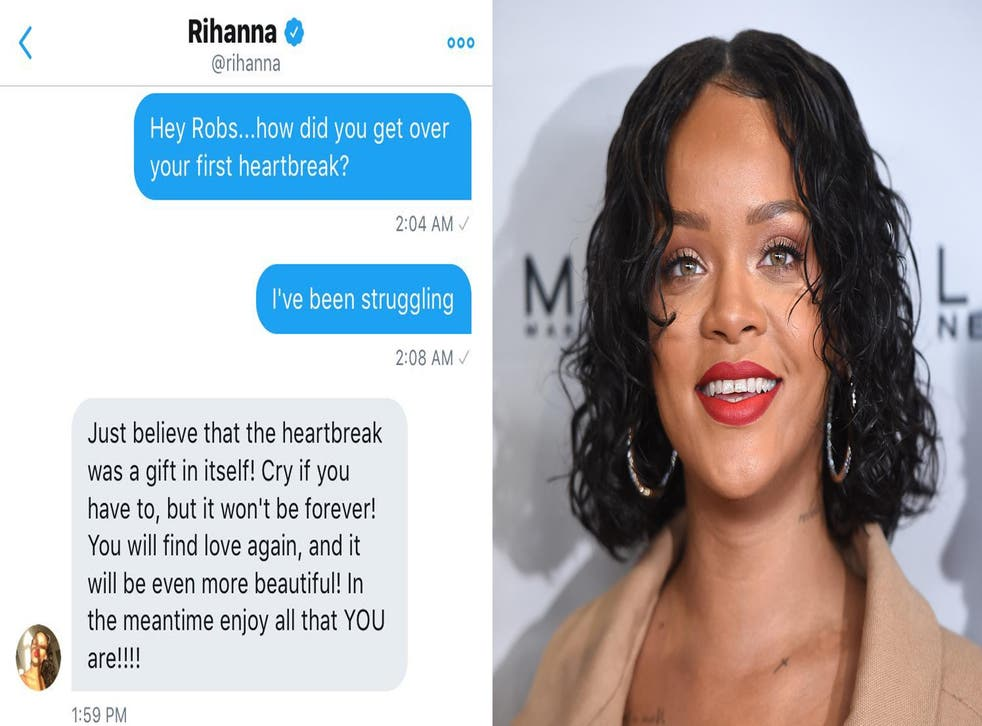 Rihanna slid into a fans DMs to give them breakup advice