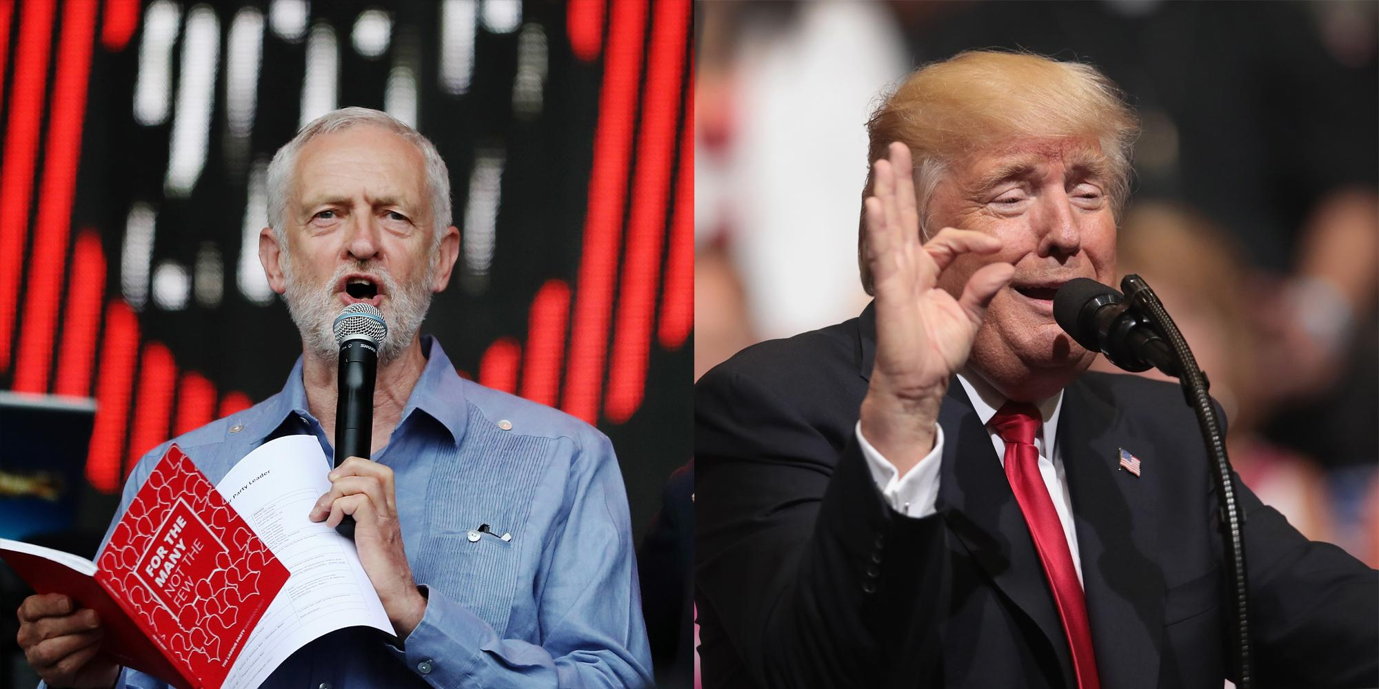 Jeremy Corbyn just destroyed Donald Trump in front of tens of thousands at Glastonbury