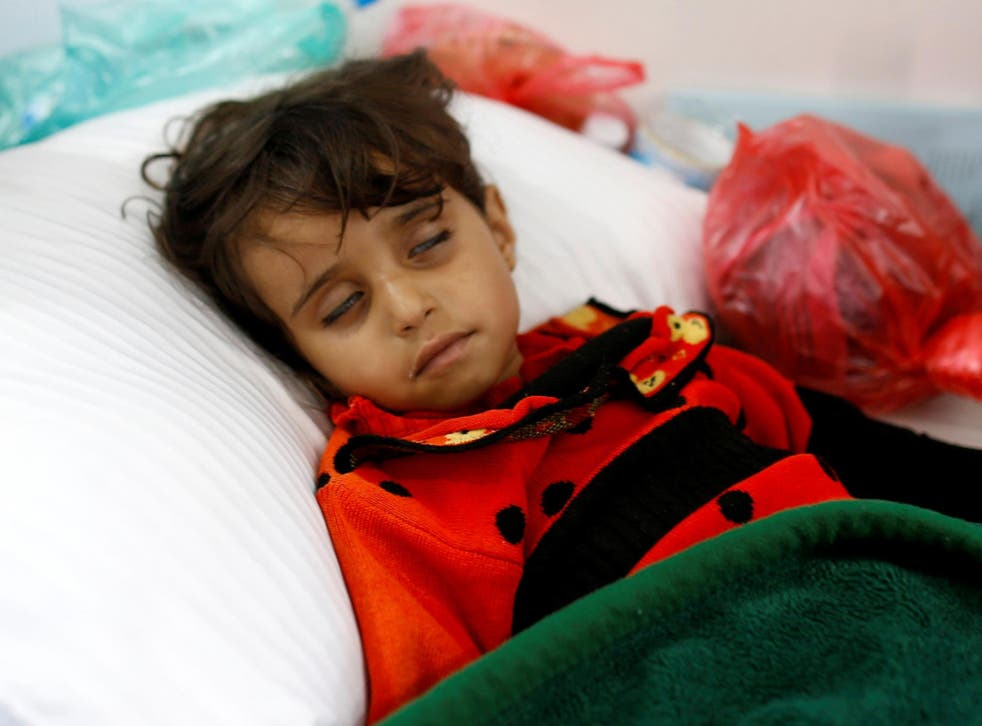 Epidemic: malnourished children are especially vulnerable