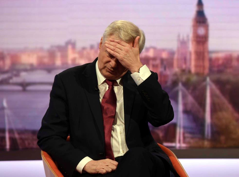 Bad news for Brexit Secretary David Davis