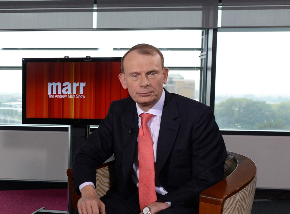 Candid: Mr Marr pointed out that his peers in channels such as Sky and ITV will not undergo the scrutiny in place at the BBC