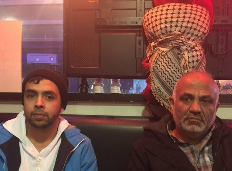 Deportation: Yousef Hassan, pictured with his father Jehad, counts on intervention from Home Secretary Amber Rudd