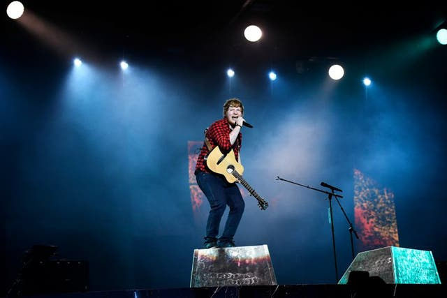 Artists such as Ed Sheeran have seen several of their songs in the Singles Chart at the same time