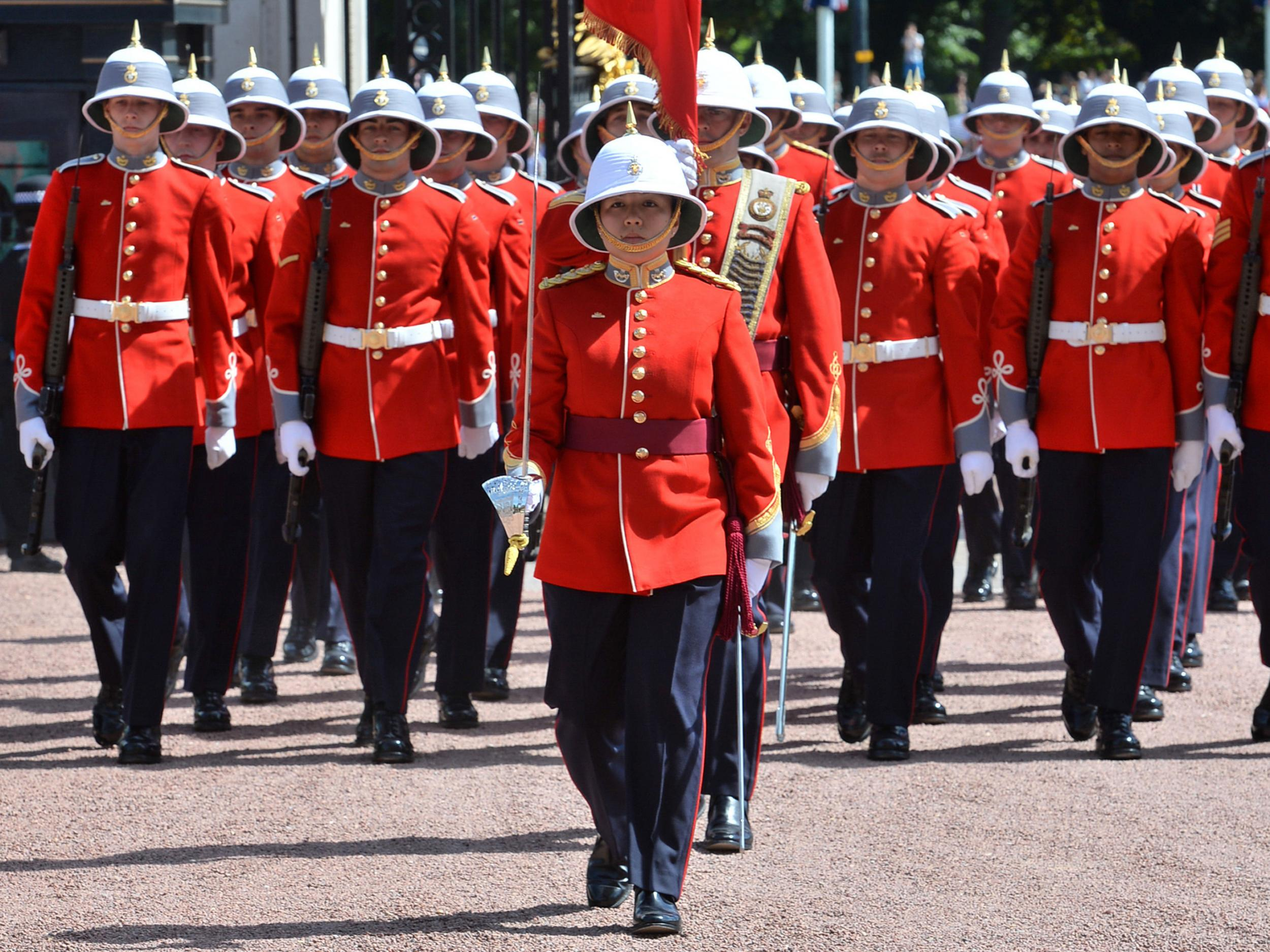 Buckingham Palace welcomes first female infantry Captain ...