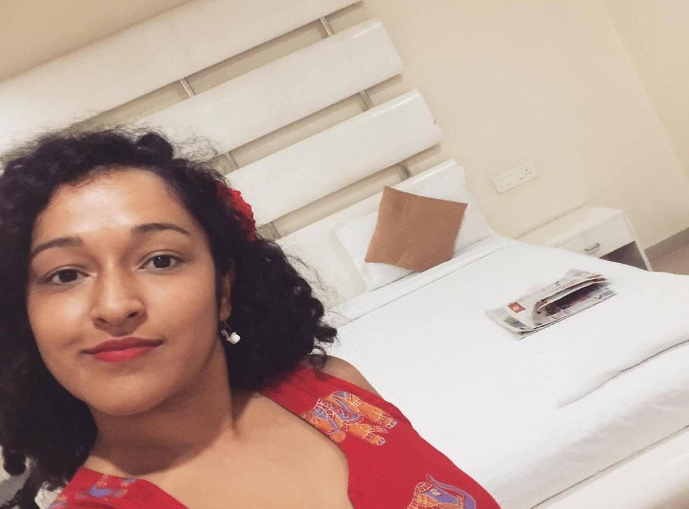 'Single lady' Nupur Saraswat in the hotel room she was upgraded to