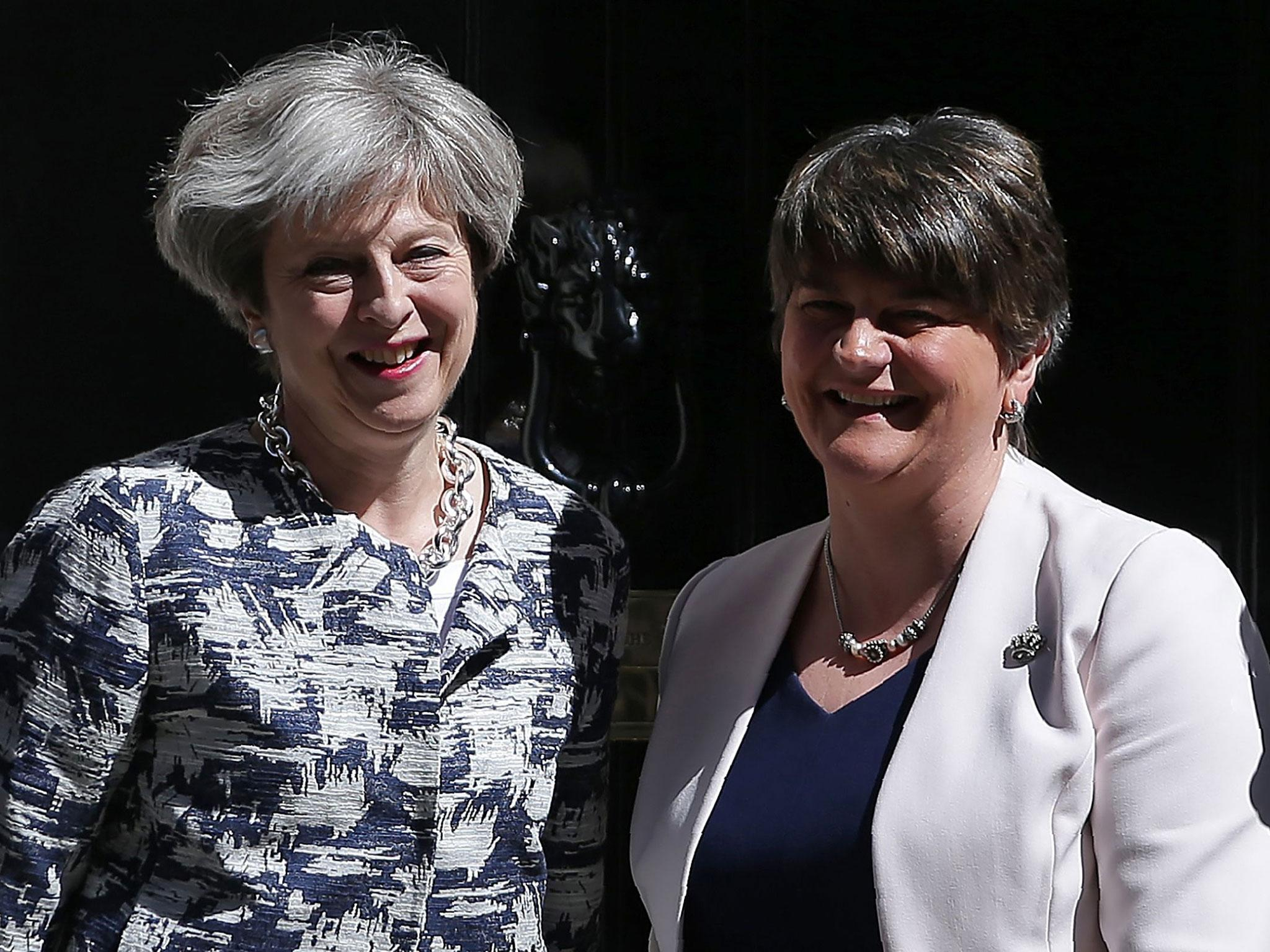 Deal struck with DUP to keep Theresa May in power with working majority