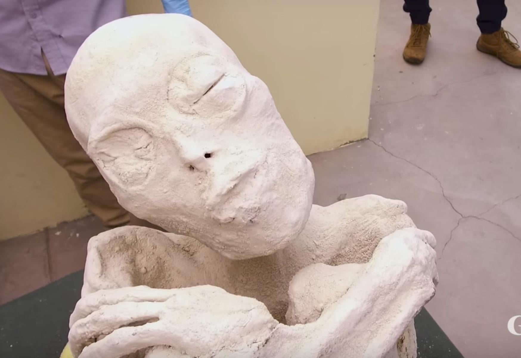 Ancient Gaia Statue group claims to have found an ancient, mummified alien – but