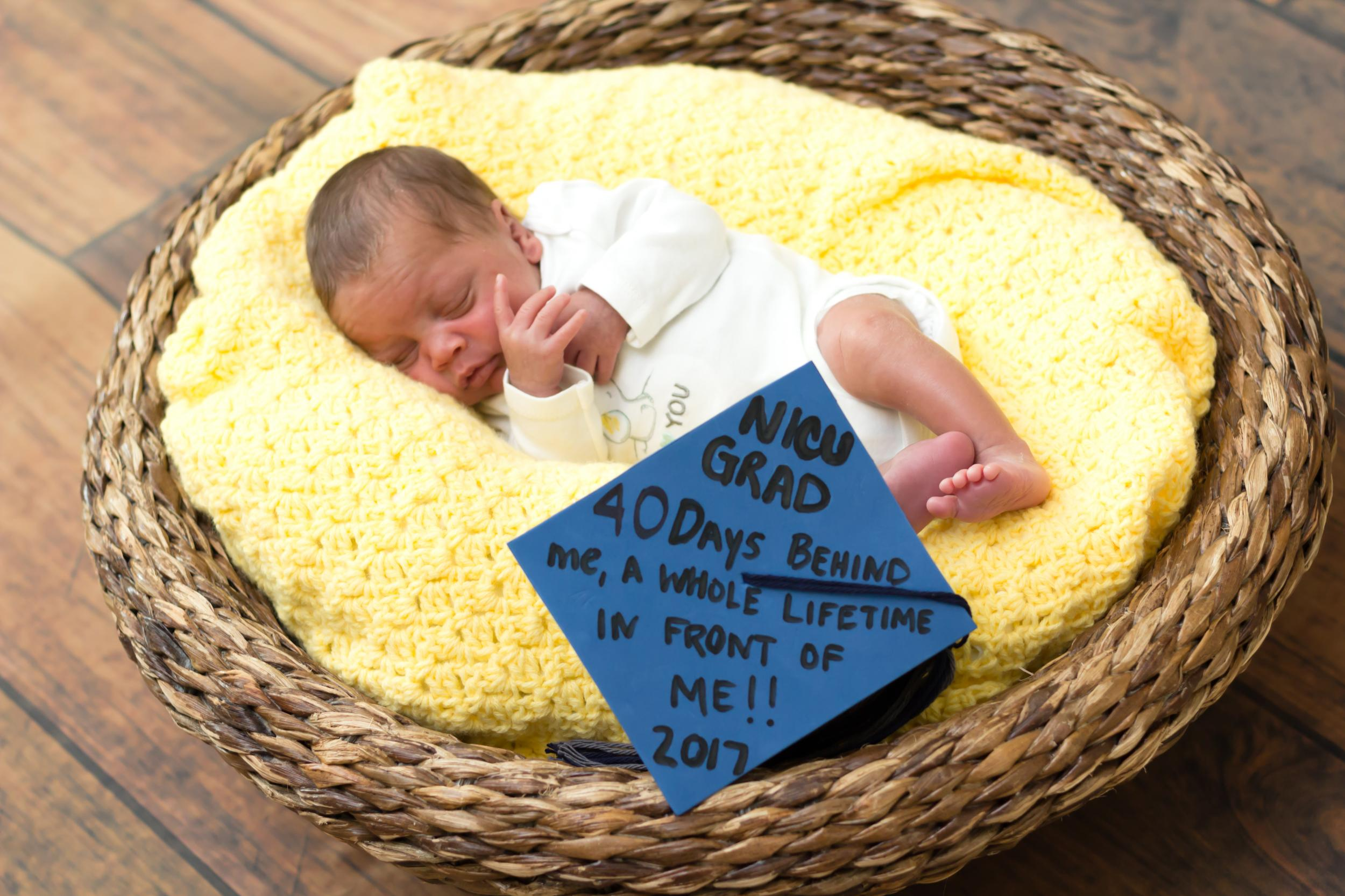 Baby born at 22 weeks \'graduates\' from intensive care in cap and ...