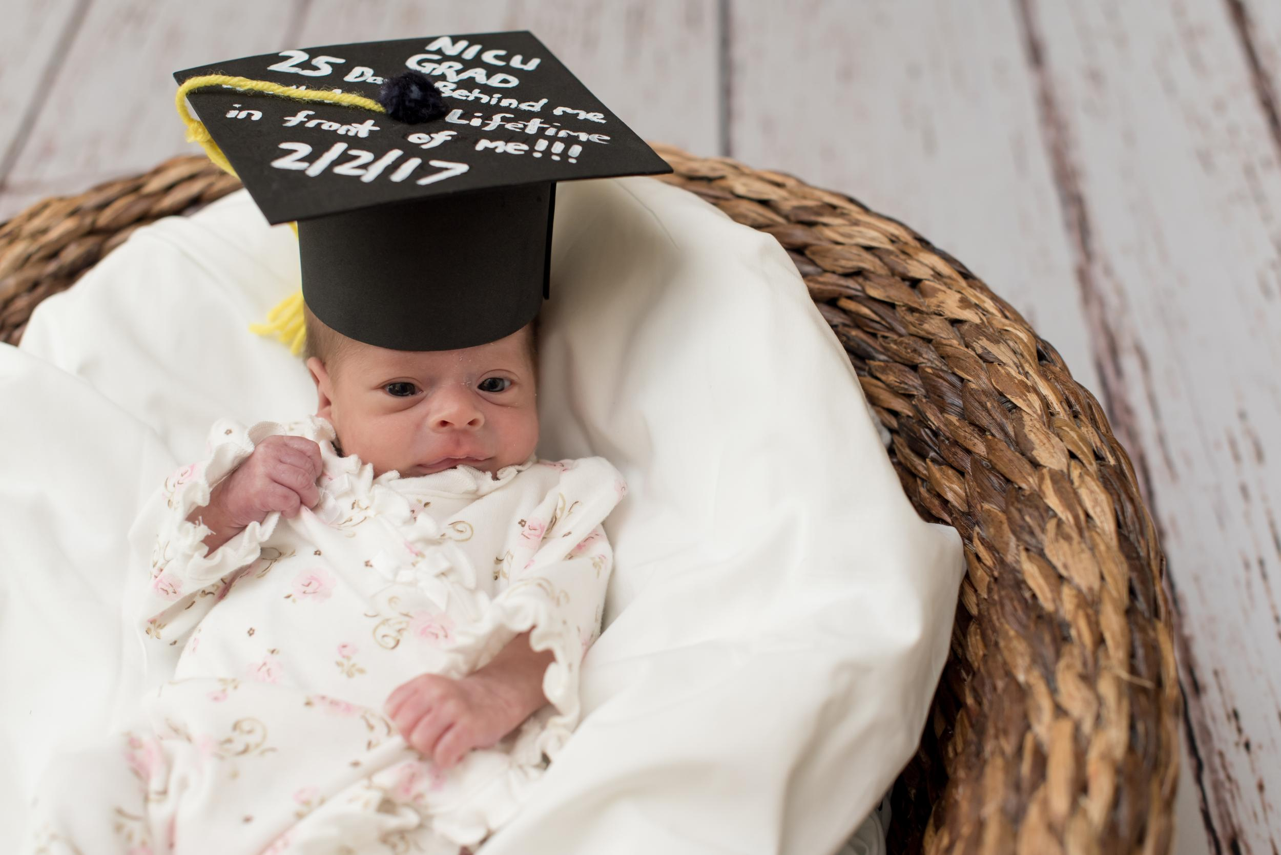 729f931b264b4 Hospital holds graduation ceremonies for premature babies - and the photos  are adorable
