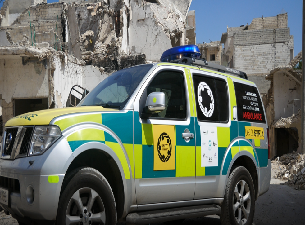 The 100 ambulances are supposed to make up for a shortage in rebel emergency vehicles in Idlib province after dozens were destroyed during the fall of Aleppo last year