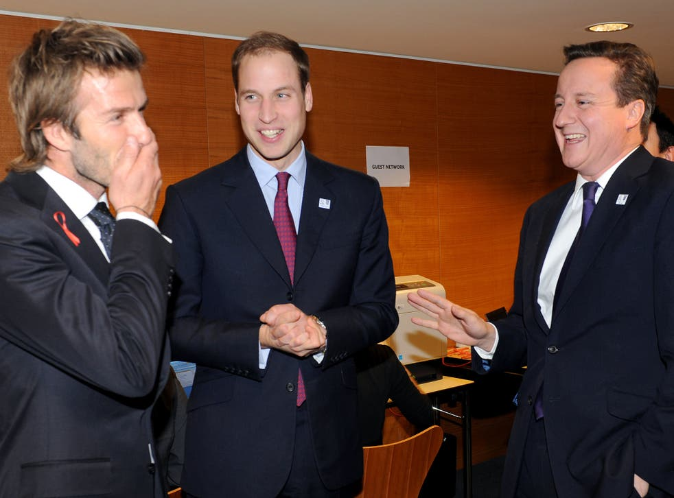 David Beckham, Prince William and David Cameron fronted England 2018's lobbying party