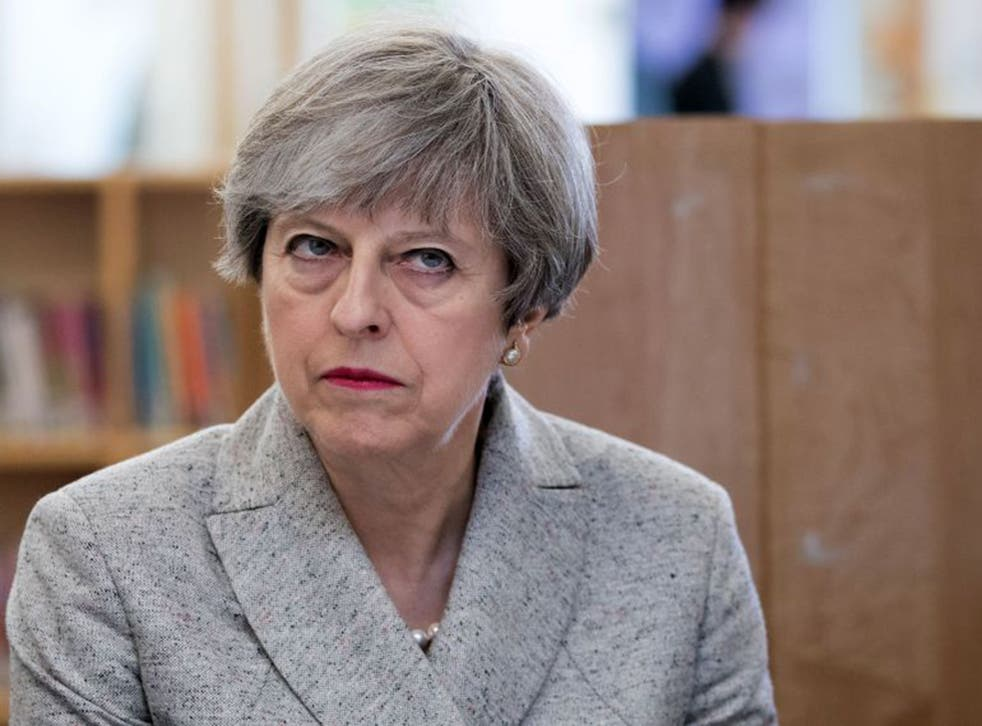 Theresa May visiting a school in Bristol