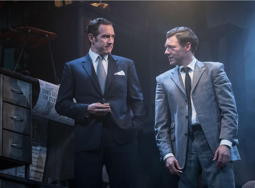 Bertie Carvel (Rupert Murdoch) and Richard Coyle (Larry Lamb) in 'Ink' at the Almeida