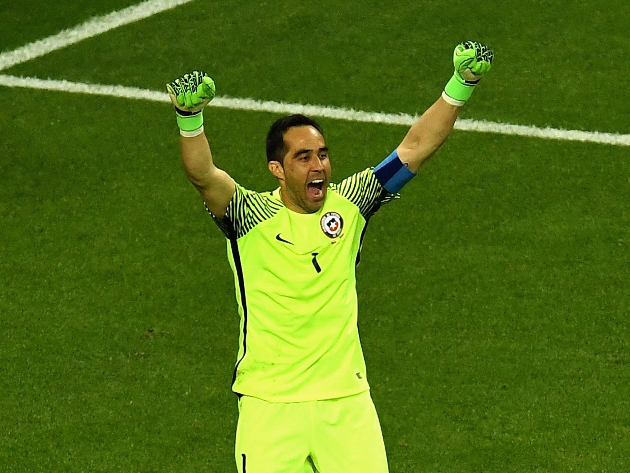 Claudio Bravo made as many saves in Chile s penalty shootout win