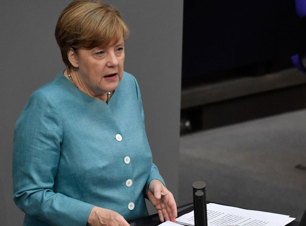 The German Chancellor stressed in a speech to the German parliament the EU stands fully behind its commitment to the Paris climate change agreement