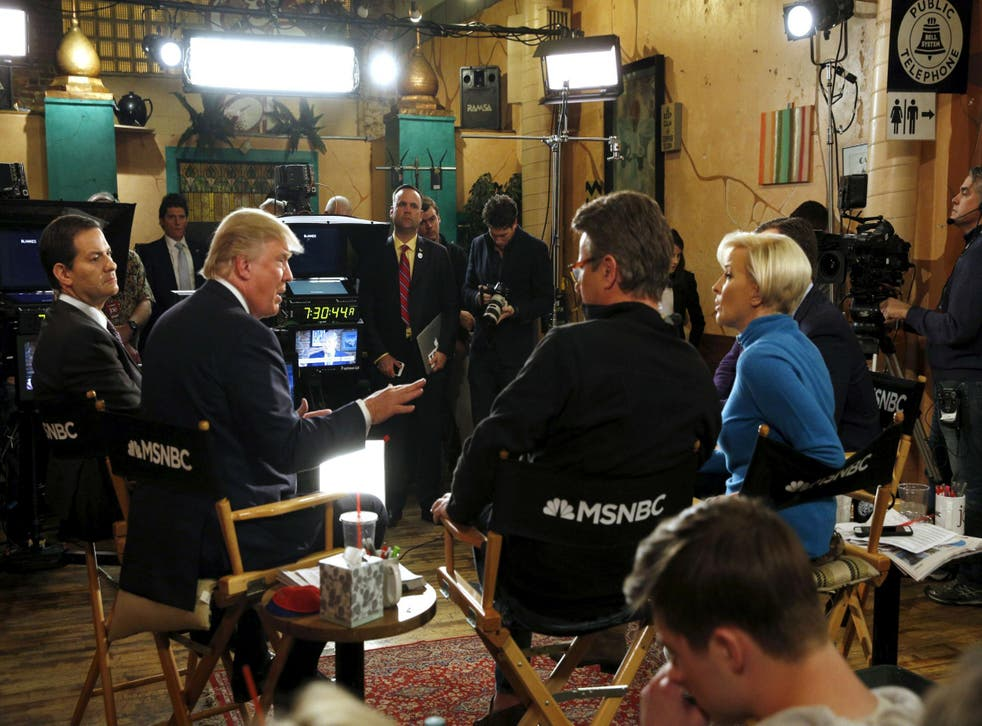 Mr Trump has had something of a love-hate relationship with the hosts of 'Morning Joe'